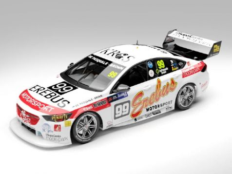 1:18 AC 2018 Holden ZB Commodore #99 DePasquale/Brown Sandown 500 Retro Round