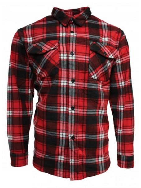 Adventureline Men's Shearers Sherpa Lined Jacket in Ferrari Check