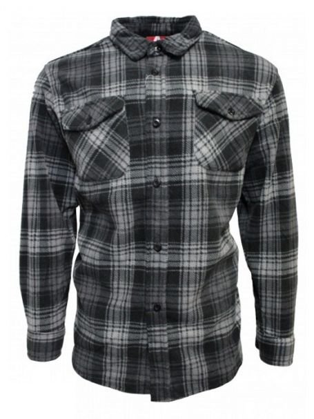 Adventureline Men's Shearers Sherpa Lined Jacket in Ghost Grey Check