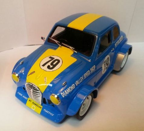 1:18 Ace Models Peter Brocks Austin A30 - Sky Blue - Car 79 - Resin Model - White Steel Wheels diecast model car