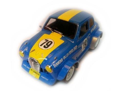 1:18 Ace Models Peter Brocks 1969 Austin A30 - Sky Blue - Car 79 - Resin Model - White Steel Wheels