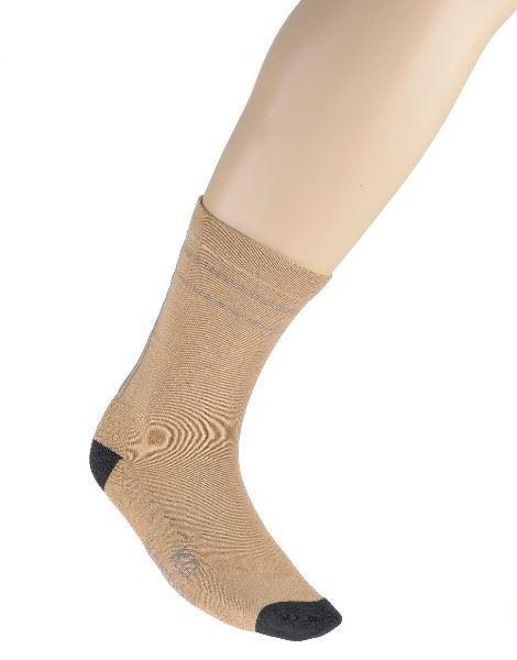 Bamboo Loose Top Business Socks - Bone