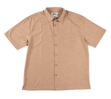Mens Bamboo Fibre Long Sleeve Shirts: Latte