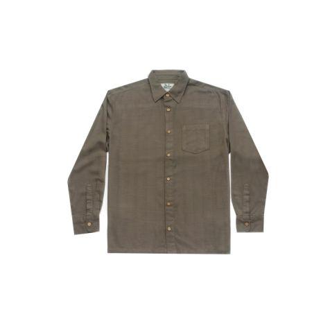 Mens Bamboo Fibre Long Sleeve Shirts: Jungle
