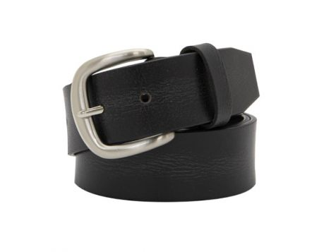 Buckle 1922 Men's Buffalo Leather Belt in Black
