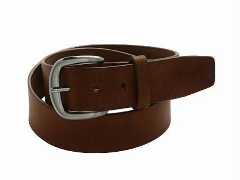Buckle 1922 Men's Buffalo Leather Belt in Brown