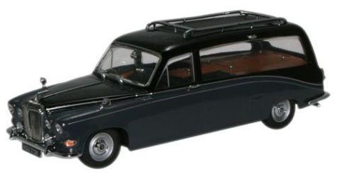 1:43 Oxford Diecast Daimler DS420 Hearse in Black/Carlton Grey DS008