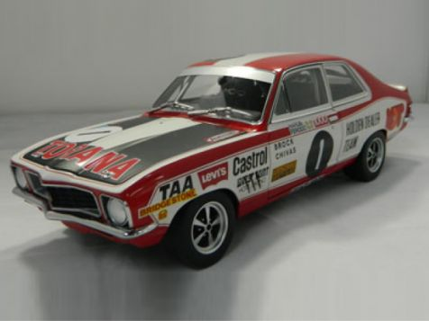 1:18 Biante 1973 LJ XU1 Torana  2nd place at Bathurst Brock/Chivas Car #1 With display case and bronze plaque
