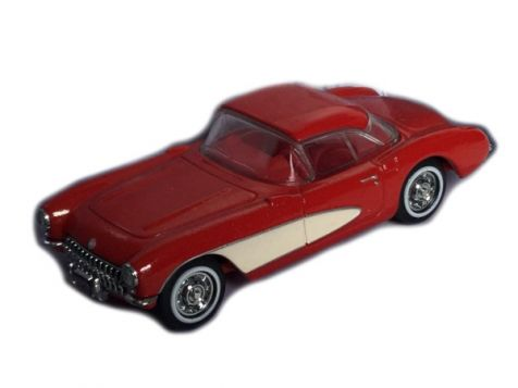 1:43 Dinky 1956 Chevrolet Corvette Red/White DY-23