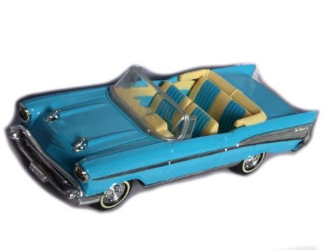 1:43 Dinky 1957 Chevrolet Bel Air Convertible Blue/White DY-27 (Unboxed)