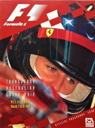 Formula 1, Transurban Australian Grand Prix , Melbourne March 7 to 10 1996, Official Programme - HWT Magazines -1996
