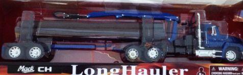 1:32 NEWRAY DIECAST MACK SEMI TRUCK HAULER W900 LOG CARRIER TRAILER W/ CRANE