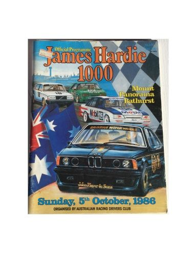 James Hardie 1000 Official Programme Sunday, 5th October 1986