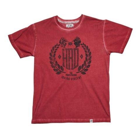 Irving Vincent Men's Daytona Short Sleeve T-shirt in Red Washed