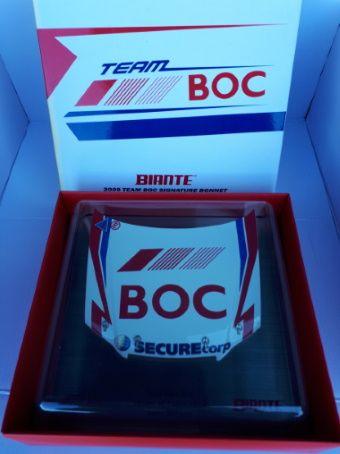 Signature Bonnet by Biante Model Cars.  1:10 scale model of the 2009 Team BOC Holden VE Commodore Bonnet.  Driver: Jason Richards