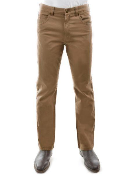 Men's Thomas Cook Straight Leg Stretch Tailored Slim Moleskin Jeans CAMEL
