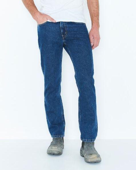 Men's Levis 516 Straight Leg Stretch Jeans in Dark Stone Wash