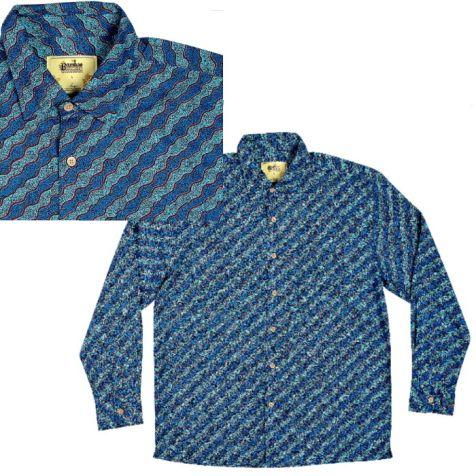 "Men's Bamboo Long Sleeve Shirt ""Dreaming Range"" WATER DREAMING"
