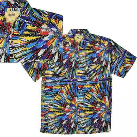 "Men's Bamboo Short Sleeve Shirt ""Dreaming Range"" COCKATOO DREAMING"