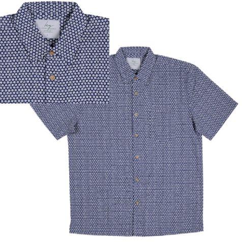 Men's Bamboo Fibre Short Sleeve Shirt: Cotton Balls