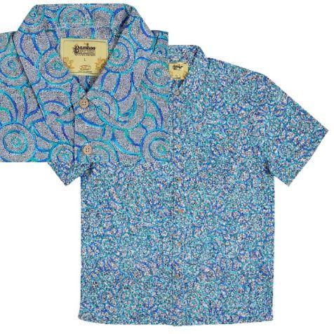 """Men's Bamboo Short Sleeve Shirt """"Dreamin Range""""  BUSH TAIL POSSUM"""