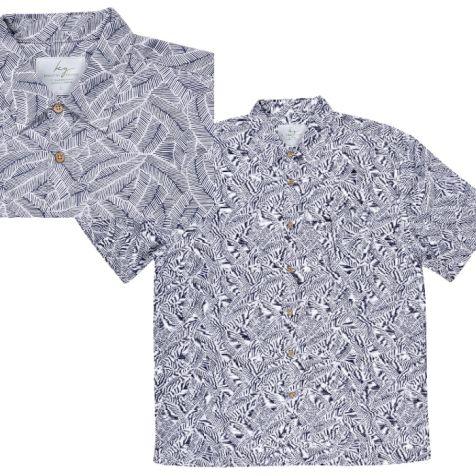 Men's Bamboo Fibre Short Sleeve Shirt: Illusion