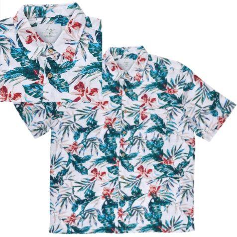 Men's Bamboo Fibre Short Sleeve Shirt: Pacific Islands