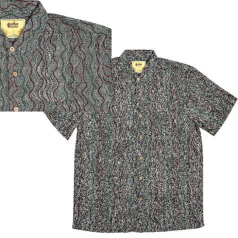 "Men's Bamboo Short Sleeve Shirt ""Dreaming Range"" SEED DREAMING"