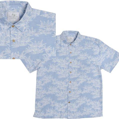 Men's Bamboo Short Sleeve Shirt BAMBOO LEAF