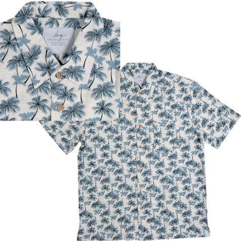 Men's Bamboo Short Sleeve Shirt PARADISE PALMS