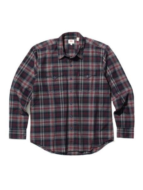 Men's Levi's Modern Classic Western Long Sleeve Shirt WOLF FIG PURPLE