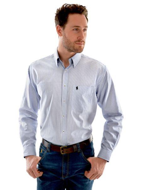 Men's Thomas Cook 'Albury Check' 2 Pocket Long Sleeve Shirt 100% Cotton