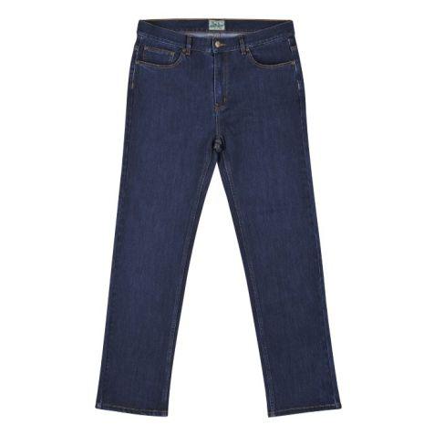 """Kingston Grange - Men's Bamboo Denim Jeans - 30"""" and 32"""" In-Leg - """"Indigo"""" Waist Size: 30"""" - 46"""""""