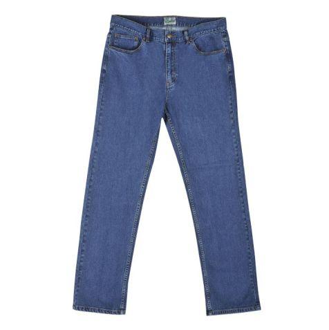 "Kingston Grange - Men's Bamboo Denim Jeans - Short (30"") and Regular (32"") In-Leg - ""Stonewash"" Waist Size: 30"" - 46"""