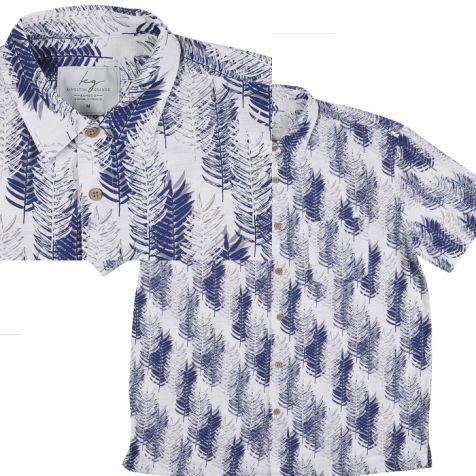 Men's Bamboo Fibre Short Sleeve Shirts NAVY PINES