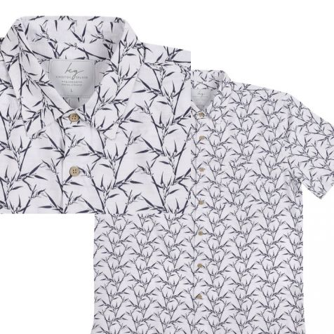 Men's Bamboo Fibre Short Sleeve Shirts WHITE BAMBOO