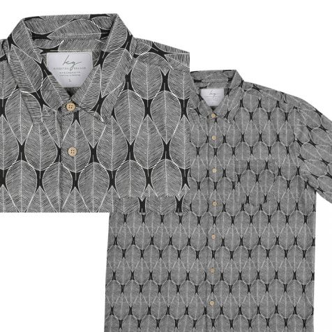 Men's Bamboo Fibre Short Sleeve Shirts WHITE LEAF