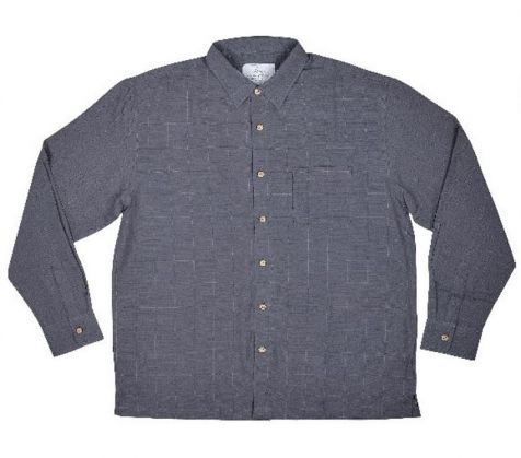 Men's Bamboo Long Sleeve Shirt in Steel
