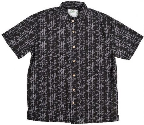 Mens Bamboo Fibre Short Sleeve Shirts: Black Bamboo