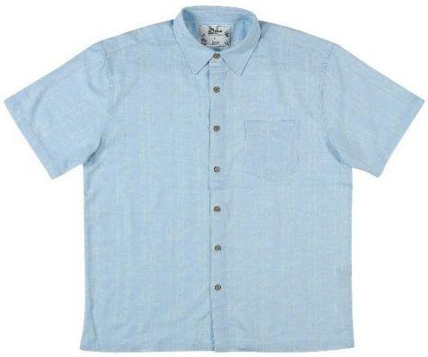 Mens Bamboo Fibre Short Sleeve Shirts: Sky Blue