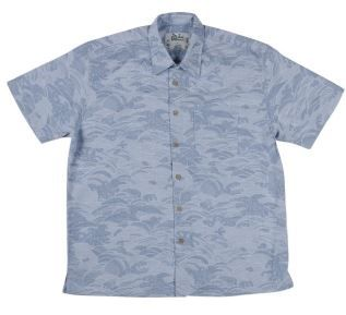 Men's Bamboo Short Sleeve Shirt in Ocean