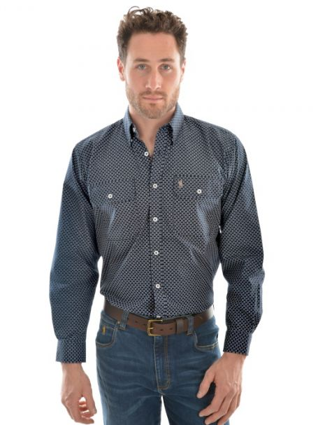 Men's Thomas Cook 'Baretta' 2 Pocket Long Sleeve Shirt 100% Cotton