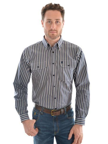 Men's Thomas Cook 'Batandra' 2 Pocket Long Sleeve Shirt 100% Cotton