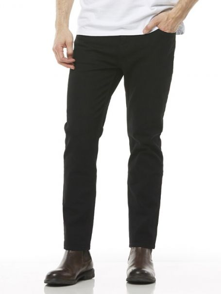 Men's Riders by Lee Classic Slim Stretch Jeans FLAT BLACK