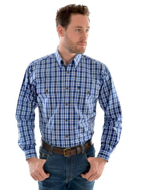 Men's Thomas Cook 'Cullen Check' 2 Pocket Long Sleeve Shirt 100% Cotton