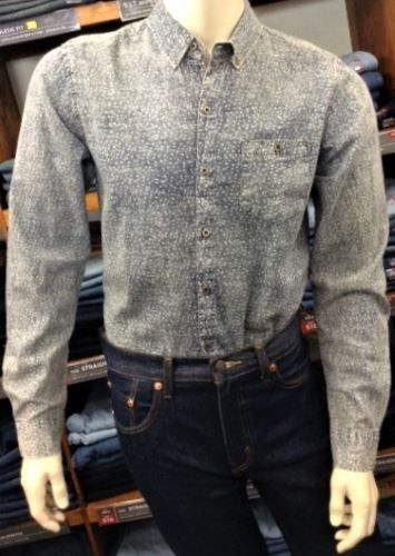 Men's Deacon Oman Long Sleeve Cotton Shirt LIGHT BLUE