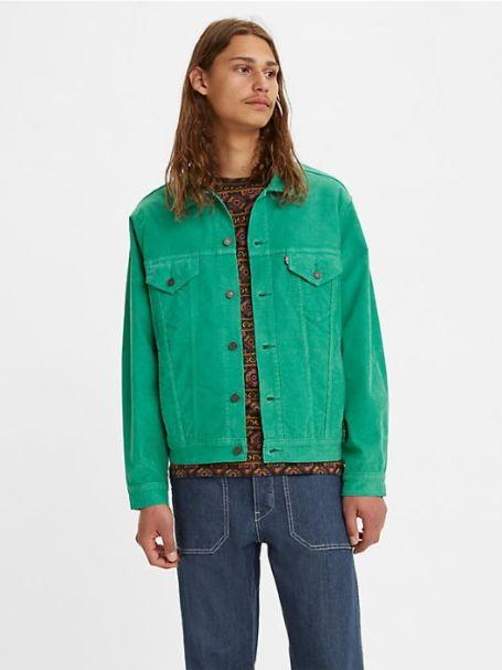 Men's Levi's Vintage Fit Trucker Cord Jacket Green