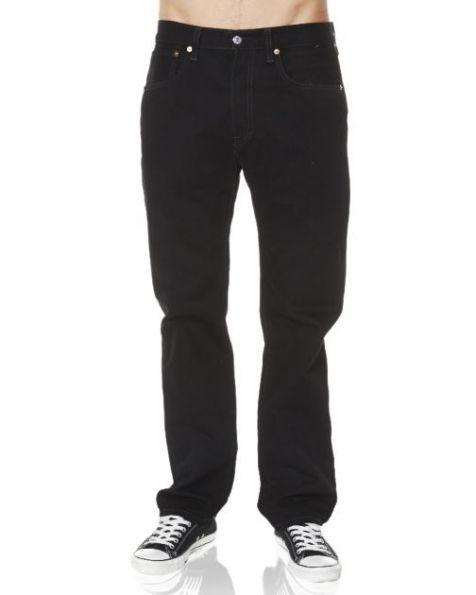 "Mens Levis 501 Original BLACK Denim Jean with 32""/34"" Inleg - Waist Sizes 30""-40"""