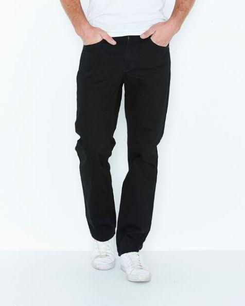Men's Levi's 516 Straight Leg Denim Jeans - Black Rinse