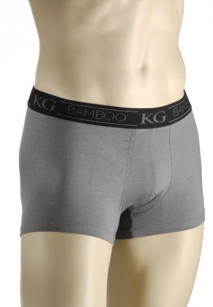 Mens Bamboo Fibre Boxer Style Brief  - Charcoal